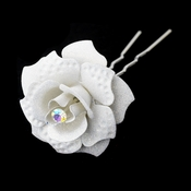White Glitter Crystal Bridal Hair Pin 900