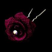 Ruby Glitter Crystal Bridal Hair Pin 900