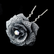 Silver Glitter Crystal Bridal Hair Pin 900
