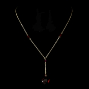 Necklace 8124 Gold Red
