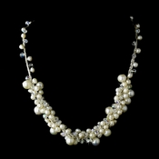 Silver Pearl Aurora Borealis Necklace 7830 ***Discontinued***