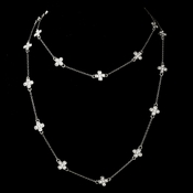 """Silver Clear 36"""" Necklace 7993"""