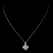 Silver Clear Cubic Zirconia Necklace N 8119  ** Discontinued***