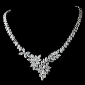 Stunning Marquise Cubic Zirconium Necklace N 9830