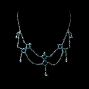 * Aqua Swarovski Crystal Necklace N 240 ****3 Left****