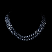 Glistening Two Row Swarovski Necklace N-8143
