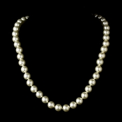 "* Elegant 30"" Knotted Ivory Pearl Necklace N 8340"