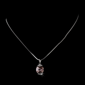 Necklace 6502 Silver Pink
