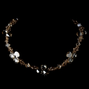 Swarovski Cyrstal Necklace N 8211 Gold Light Brown