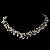 Necklace 8249 Silver Pearl