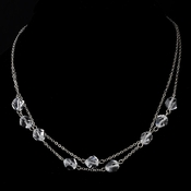 * Necklace 8268 Silver Clear *Only 14 Left*