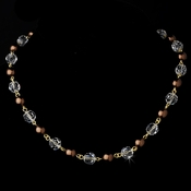 Necklace 8352 Silver Brown