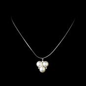 Elegant Freshwater Pearl CZ Necklace N 6501