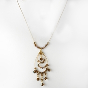 * Necklace 8153 Gold Brown (1 Left)