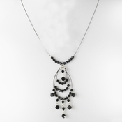 * Necklace 8153 Silver Black (1 Left)