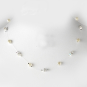 Necklace 8364-Silver-Ivory
