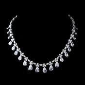 Silver Clear Necklace 2404