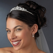Regal Silver Clear Crystal Tiara Headpiece 4009***Discontinued***
