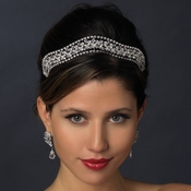 * Silver Clear Headpiece Tiara 619***Discontinued***