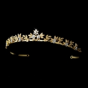 * Gold Clear Tiara Headpiece 2032