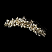 Gold Ivory Headpiece Comb 7721