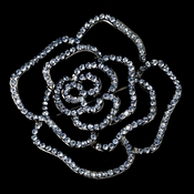 Brooch 6277 Antique Silver with Light Blue Rhinestones