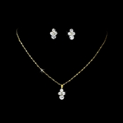 Necklace Earring Set NE 110 Gold Clear