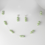 Necklace Earring Set NE 206 Green