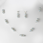 Necklace Earring Set NE 206 Cloud Silver