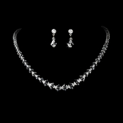 Necklace Earring Set NE 231 Clear