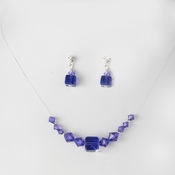 Purple Illusion Necklace & Earring Set NE 233