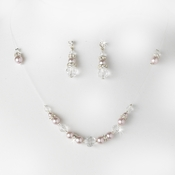 * Necklace Earring Set NE 230 Lavender Clear