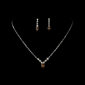 Necklace Earring Set 307 Silver Light Colorado