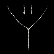 * Necklace Earring Set 313 Silver Clear