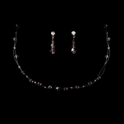 Light Amethyst Swarovski Crystal Illusion Jewelry Set NE 241 ***4 Left***