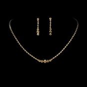* Necklace Earring Set 337 Silver Tan