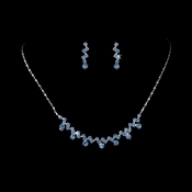 * Necklace Earring Set 324 Silver Light Blue