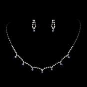 * Stunning Silver Light Blue Crystal Accent Jewelry Set NE 325