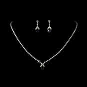 Beautiful Navy Crystal Jewelry Set NE 342