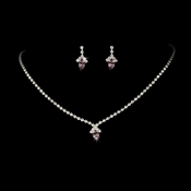 Beautiful Light Amethyst Crystal Jewelry Set NE 342