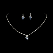 Beautiful Light Blue Crystal Jewelry Set NE 342