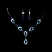 * Stunning Blue Pave Crystal Jewelry Set NE 908
