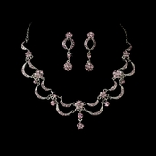 * Victorian Antique Silver Light Amethyst Jewelry Set NE 411