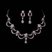* Victorian Antique Silver Pink Jewelry Set NE 411