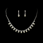 *Necklace Earring Set NE 3108 Silver Yellow