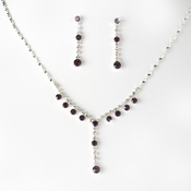 Necklace Earring Set NE 7157 Amethyst
