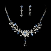 Swarovski Crystal Bridal Jewelry Set NE 8003 Blue