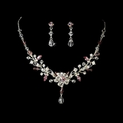 Swarovski Crystal Couture Jewelry Set NE 8003 Lt Amethyst