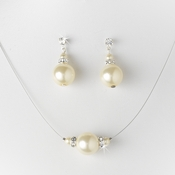 Pearl Necklace Earring Set NE 8369 Ivory