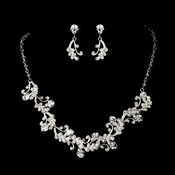Necklace Set NE 7035 Silver Clear